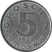 5 groschen – revers