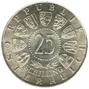 25 schilling Prince Eugène de Savoie -  avers