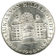 25 schilling Lukas von Hildebrandt -  revers