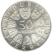 50 schilling Institut d'agriculture -  revers