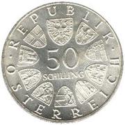 50 schilling Franz Schubert -  revers