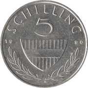 5 schilling (cupronickel) -  revers