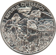 10 euros Charlemagne et l'Untersberg -  revers