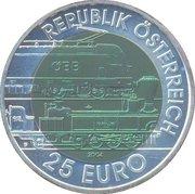 25 euros Train alpin -  avers