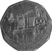 5 euros Société des amis de la musique de Vienne (argent) -  revers