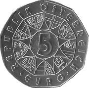 5 euros Société des amis de la musique de Vienne (argent) -  avers
