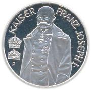 100 schilling Kaiser Franz Joseph I. -  revers