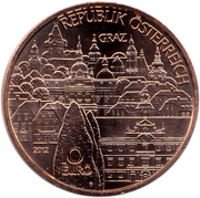 10 euros Styrie (cuivre) -  revers