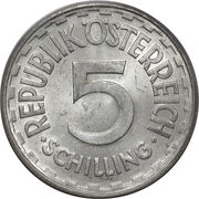 5 schilling -  avers
