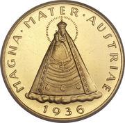 100 schilling (Vierge de Mariazell) – revers