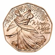 5 euros Valse viennoise (cuivre) -  avers