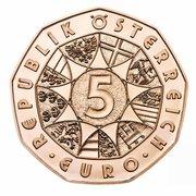 5 euros Valse viennoise (cuivre) -  revers