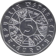 5 euros Valse viennoise (argent) -  avers