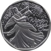 5 euros Valse viennoise (argent) -  revers