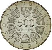 500 Schilling (Fanny Elssler) -  avers
