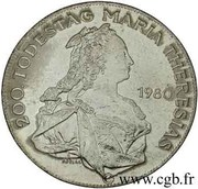 500 Schilling (Marie Theresa) -  revers