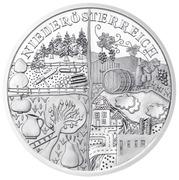 10 euros Basse-Autriche (argent) -  revers