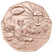 5 euros Nouvelle année 2014 (cuivre) -  avers