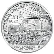 20 euros Électrification du rail -  avers
