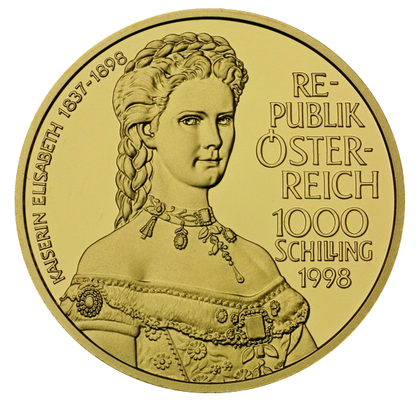 1000 Schilling Kaiserin Elisabeth Autriche Numista