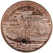 10 euros Salzbourg (cuivre) -  avers