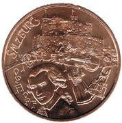 10 euros Salzbourg (cuivre) -  revers