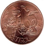 10 euros Tyrol (cuivre) -  revers
