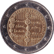 2 euros Traité d'état autrichien – avers