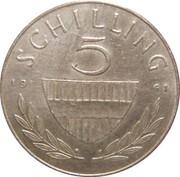 5 schilling (argent) -  revers