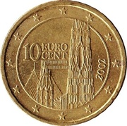 10 cents d'euro (1ère carte) -  avers