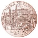 10 euros Vienne (cuivre) – avers