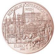 10 euros Vienne (cuivre) -  avers