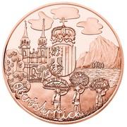 10 euros Haute-Autriche (cuivre) -  revers