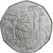 5 euros Joseph Haydn – avers