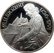 100 schilling - Mozart (Burgtheater) -  revers
