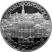 100 schilling - Mozart (Burgtheater) -  avers