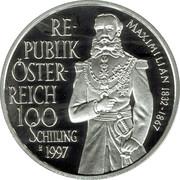 100 schilling Maximiliam -  avers