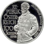 100 Schilling (Rudolf - Mayerling) -  avers