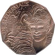 5 euros Nouvelle année 2015 (cuivre) -  revers
