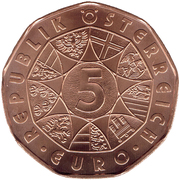 5 euros Nouvelle année 2015 (cuivre) -  avers