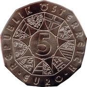 5 euros Le lièvre de Dürer (cuivre) -  avers