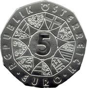 5 euros Le lièvre de Dürer (argent) -  avers
