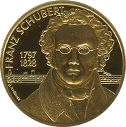 500 Schilling (Franz Schubert) – avers