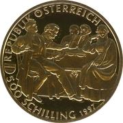 500 Schilling (Franz Schubert) – revers