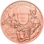 10 euros L'Autriche (cuivre) -  avers