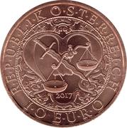 10 euros Archange St Michel (cuivre) -  avers