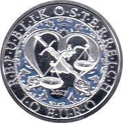 10 euros Archange St Michel (argent, colorée) -  avers