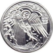 10 euros Archange St Michel (argent, colorée) -  revers