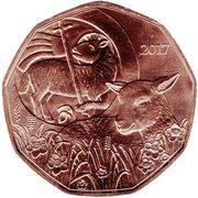 5 euros Agneau de Pâques (cuivre) -  revers
