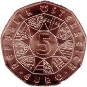 5 euros Agneau de Pâques (cuivre) -  avers